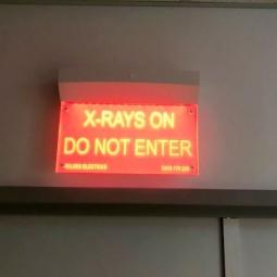X-Ray Warning Light